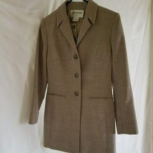 Jones New York Beige 3-Piece Skirt Suit, Size 2P